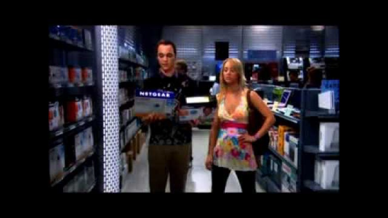 Sheldon Shopping in the Electronics Department