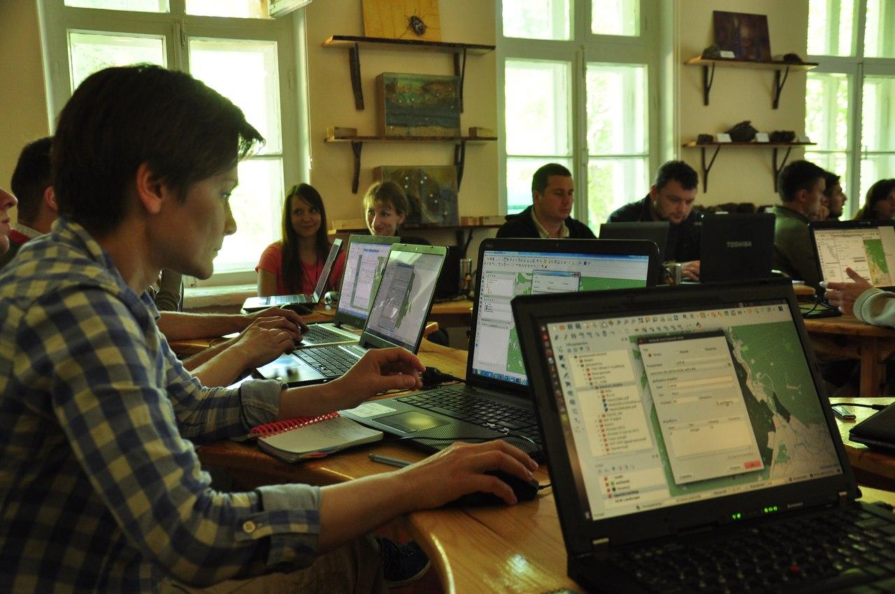 рабочий процесс на семинаре ГИС и заповедные территории 2016 (фото)