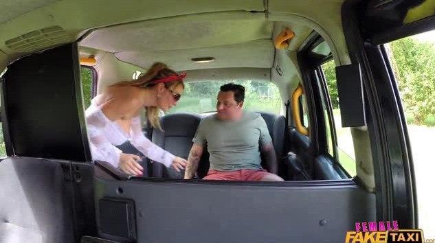 FemaleFakeTaxi – Stacey Saran – Drivers Big Tits Get Covered Cum
