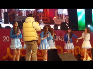 [160215] lovelyz - random dance @ kyungil university freshman orientation