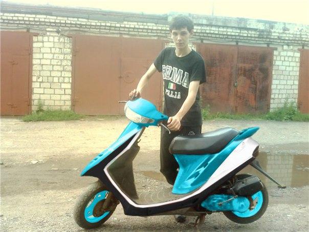 Фото покраска скутера своими руками