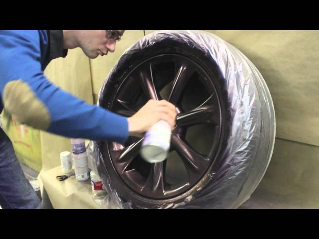 Как окрасить диск в Plasti Dip Plasti Dip Metalizers Violet Red Blue and Green
