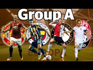 EUROPA LEAGUE 2016/2017 GROUP A Manchester United, Fenerbahce, Feyenoord, Zorya
