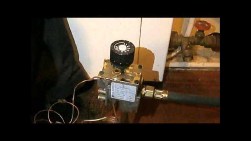 Eurosit 630 Регулировка пламени горелки(фитиля) , парапетного котла