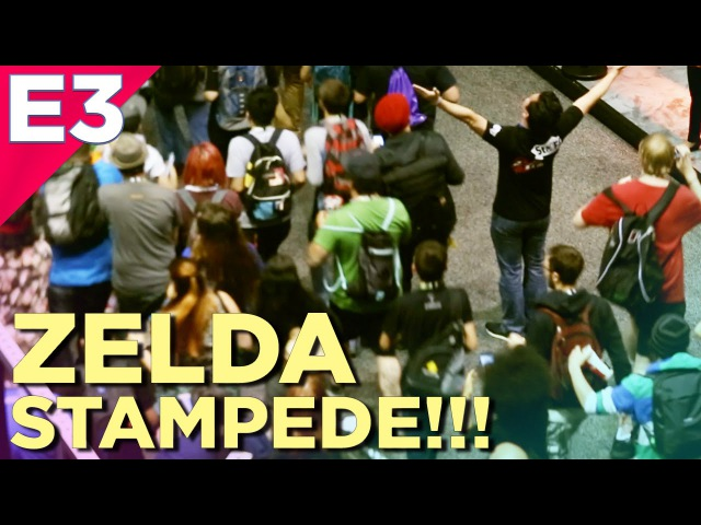 Zelda Fans STAMPEDE the E3 Show Floor on the Final Day of the Show!