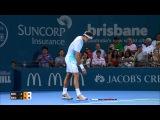 Roger Federer chucks his racquet during tense final   Brisbane International 2016