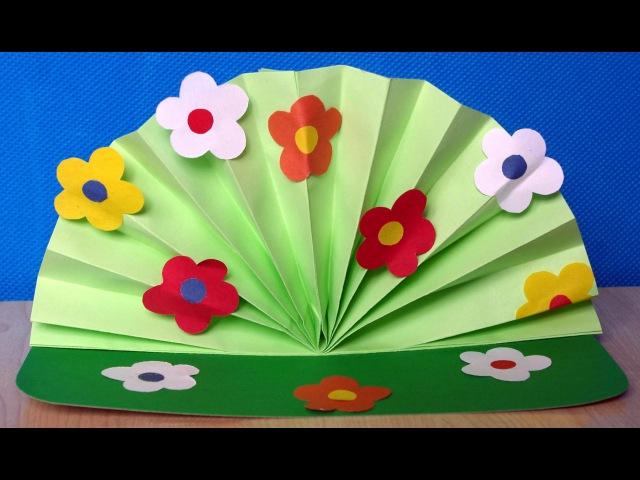 Аппликации из цветной бумаги. Как сделать цветы для мамы своими руками. Поделки на 8 марта.