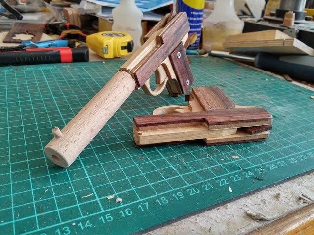 Compact Rubber Band Gun