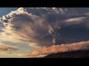 Таймлапс  извержение вулкана Кальбуко в Чили