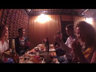 Абхазское застолье с песнями))) редкое видео!!!