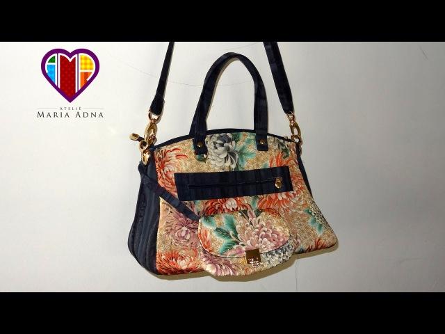 Bolsa de tecido Flora - Maria Adna Ateliê - Aula de bolsa de tecido - Bolsas de tecido