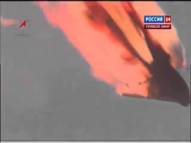 Падение и взрыв ракеты Протон-М в прямом эфире. Байконур (02.07.2013).