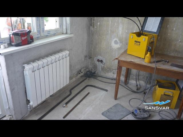 Замена радиаторов отопления Заморозка Газосварка