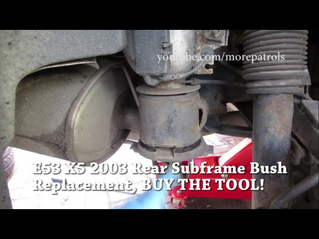 E53 Subframe Bushes Replacement on BMW X5