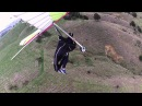 Hang gliding, how not to top land... crash and burn