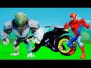 Мультик игра для детей Зелёный Гоблин и Человек Паук СУПЕРГЕРОИ и веселье с ТАЧКАМИ машинки Дисней