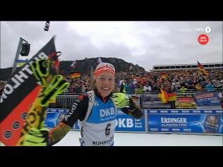 Лаура Дальмайер выигрывает масс-старт, Мари Дорен Абер - 2-я, Тириль Экхофф - 3-я - Рупольдинг 2016