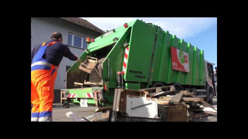 Sperrmüll Faun Powerpress Teil2 - Bulky Waste Garbage Truck Part2