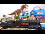 Свинка Пеппа и Джордж катают Динозавра на Поезде