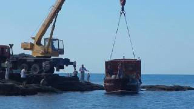 Спуск пиратской шхуны Судак Крым