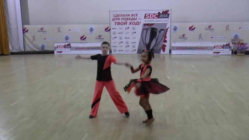SDC2016 Final D-class Kids 1-е место №112 Артур Бурмистров - Анастасия Велес
