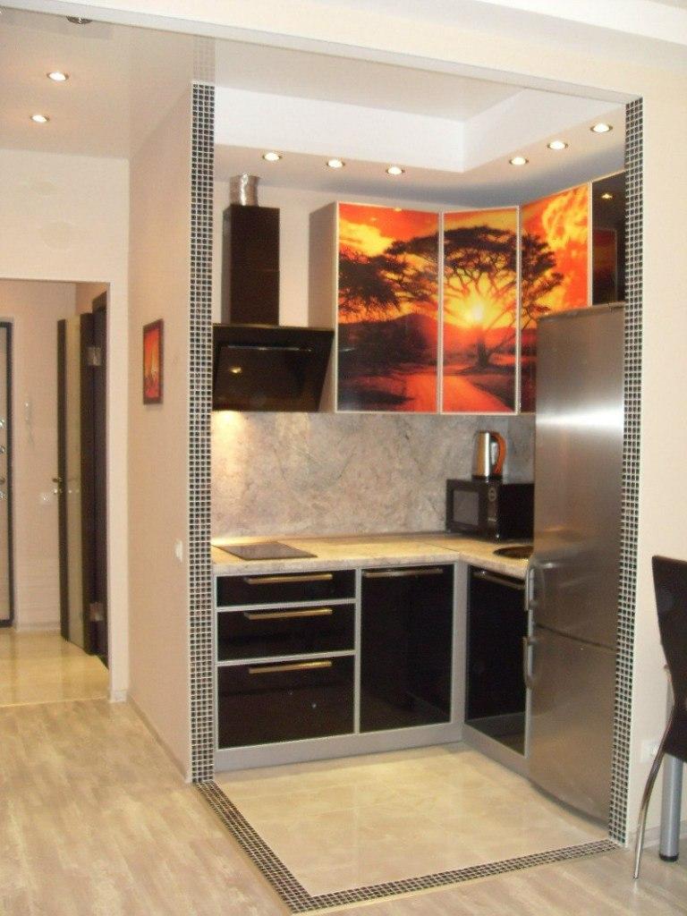 Интерьер квартиры-студии 30 м в Санкт-Петербурге.