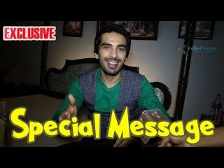 Mohit Sehgal conveys a special message to his fans!