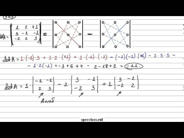 Как найти определитель матрицы 2х2 3х3 и 4х4
