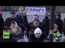 Украина: Похороны отмечают годовщину смерти Бориса Немцова с митинга в Киеве.
