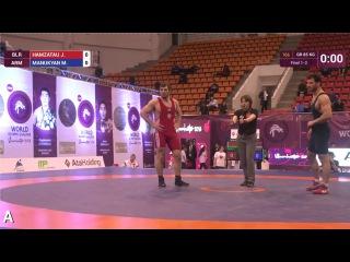 Greco-Roman Wrestling. World Olympic Qualifier 2016. 85 kg Hamzatau (BLR) – Manukyan (ARM)