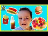 Сладкий фастфуд! Пицца и бургеры из конфет, желе и мармелада! Детский канал Эд-Непосед