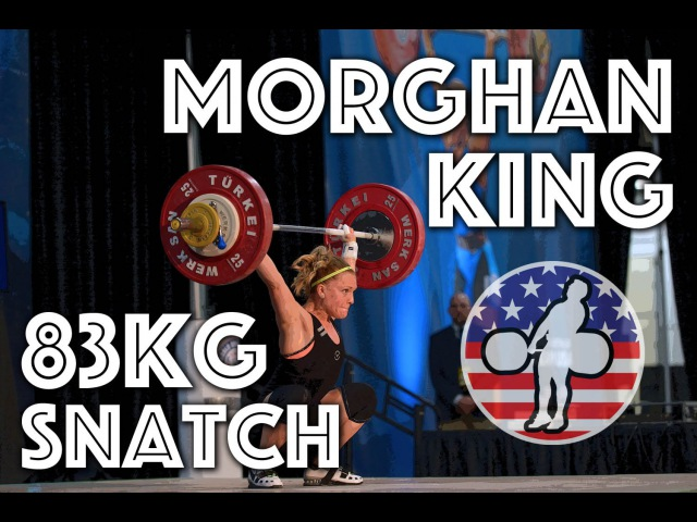 Morghan King (50.44) - 79kg, 81kg and 83kg Snatch Slow Motion