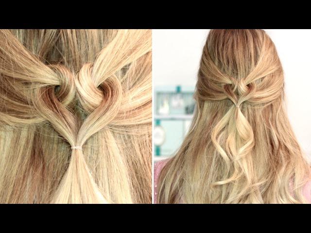 Сердце из волос ❤ Причёска на День Святого Валентина для средних, длинных волос