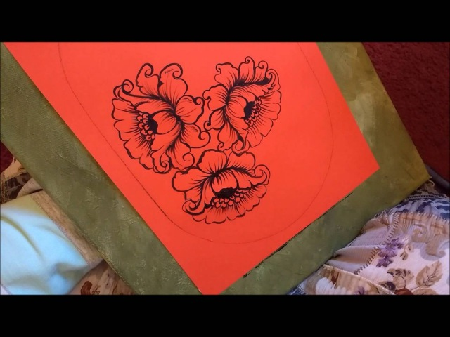 How to Paint red Roses in Acrylic Tutorial Part 1