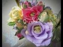 ШИКАРНАЯ роза из гофрированной бумаги с конфеткой внутри. Просто и красиво.