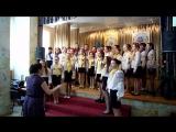 концерт хорового пения среди школ г. Днепропетровска