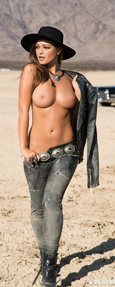 Cowgirl topless in overalls, funny sexist jokes