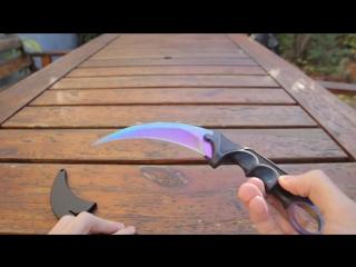 Видео-обзор настоящего ножа из CS:GO — Керамбит | Градиент