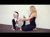 Как научиться делать переднюю затяжку. Танцы Онлайн с Кристиной Мацкевич