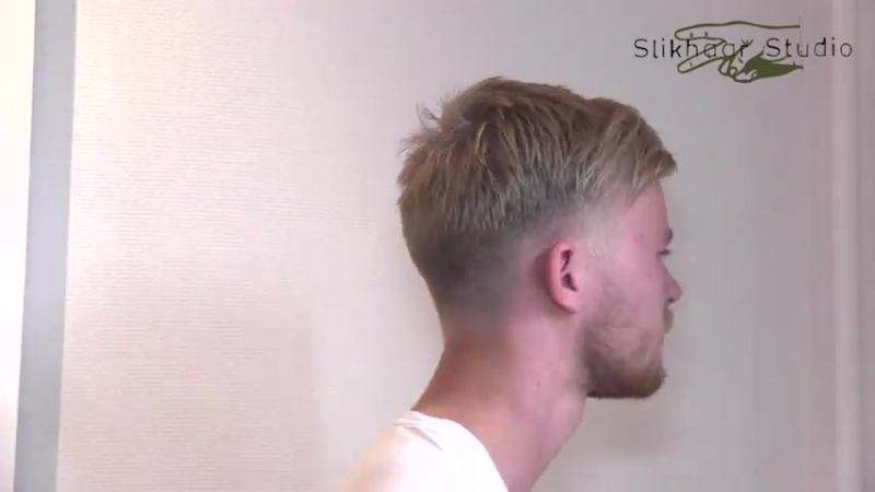 Slikhaar. Enrique Iglesias inspired hair - Men_s short blond hair - By Vilain - Slikhaar Studio
