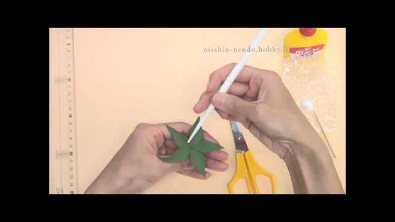 軽量粘土で作る バラの作り方1-5 (ガクの作り方)