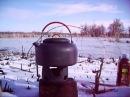 1.4L Camping Picnic Kettle Teapot ALOCS CW - K03 and Portable Alcohol Burner CS - B02