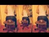 Best Blonde Looner Girl in Blue Yoga Pants Spotted on YouTube Blow Pop, Sit Pop!