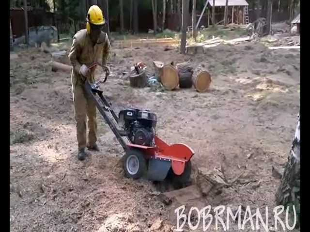 Корчевка пня Husqvarna SG13 Uprooting the stump in Russia!