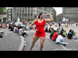 61 Tall Amazon Superheroine Maria Wattel Flexing Her Muscles At Dam Square Amsterdam