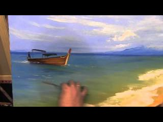 Освещенный пляж. МК по живописи .Игорь Сахаров