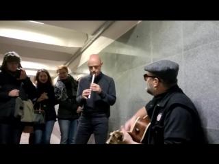 Борис Гребенщиков в переходе у метро Тургеневская