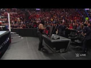 Сегмент с Гробовщиком и Шейном Макменом на Raw 28.03.2016