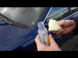 Turtle Wax Антидождь эффект До и После на BMW E39