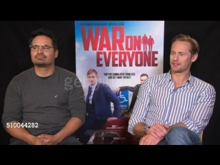 INTERVIEW - Alexander Skarsgard, Michael Pena on acting like a teenager, trying a different script out